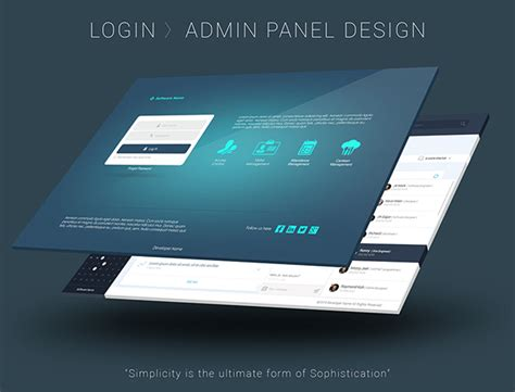 behance login admin panel user interface design on behance