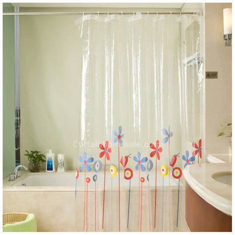 blue bathroom window curtains modern window patterned pvc red and blue floral pattern