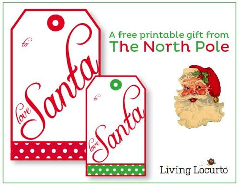 Printable Gift Tags From The North Pole | cute free printable quot from santa quot gift tags perfect for