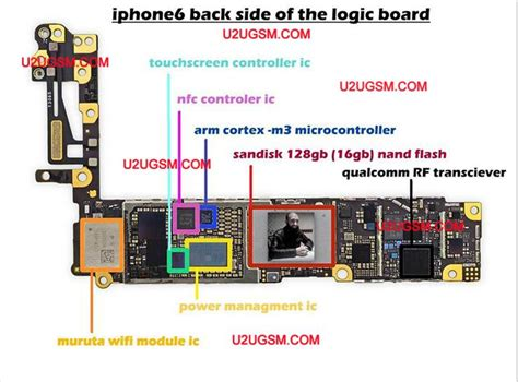 iphone  full pcb cellphone diagram mother board layout
