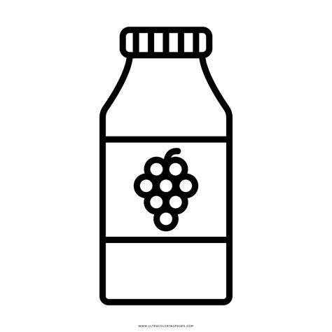 imagenes de juegos naturales para colorear dibujo de botella de jugo de uva para colorear ultra