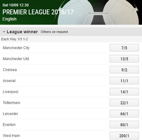 epl table odds football predictions and free betting tips on football and