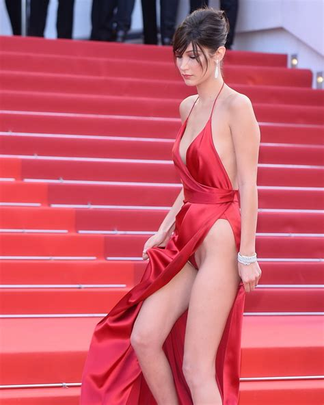 female celebrities with red pubic hair bella hadid pubes at la fille inconnue premiere in