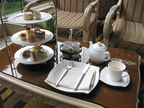 Tea Table Setting by Afternoon Tea At Jc Mandarin Hotel Shanghai China