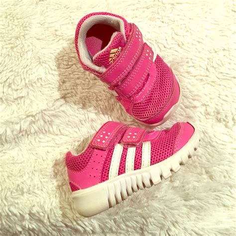 adidas shoes baby girl toddler pink velcro sneakers