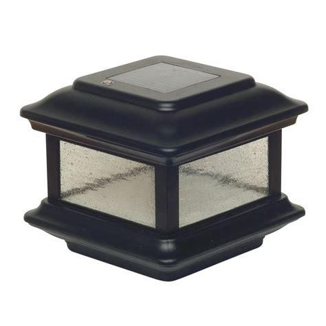 Classy Caps 4x4 Aluminum Colonial Solar Black Post Cap Solar Lights For 4x4 Posts