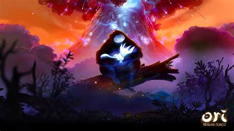 ori   blind forest cover wallpaper cat  monocle