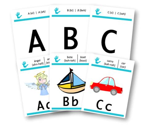 libro alphabet flash kids spanish bilingual flashcards to teach your child spanish