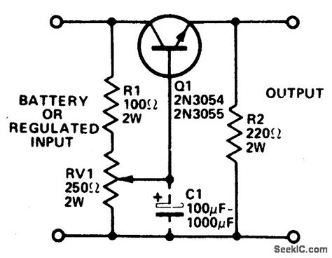 capacitor divider power supply regulated voltage divider power supply circuit circuit diagram seekic