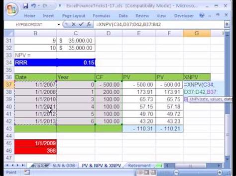 tutorial excel finance excel course excel finance trick 15 pv npv don t