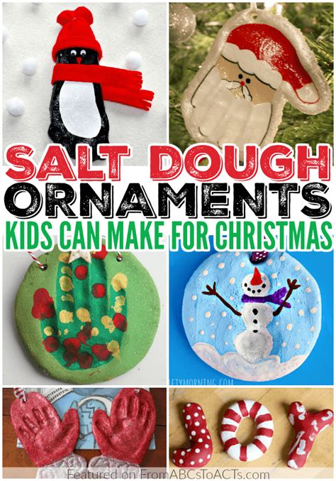 12 fun salt dough ornaments for kids from abcs to acts