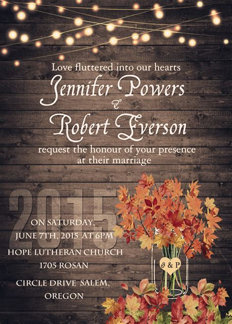 fall wedding invitations sles for autumn wedding ideas