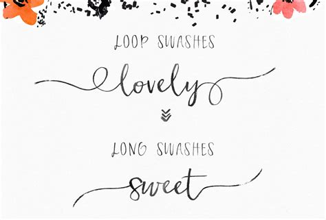 Wedding Font With Tails by Frolicky Brush Font By Angie Makes