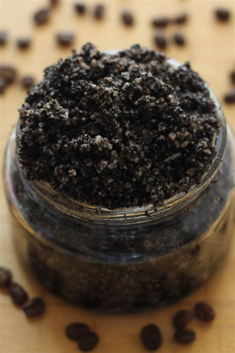 Coffee Scrub coffee salt scrub savvy naturalista