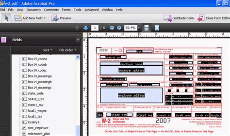Creating Pdf Templates Adobe Pdf Form Templates