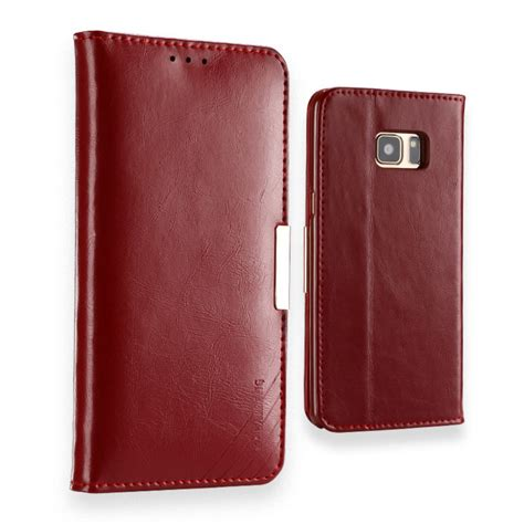 samsung galaxy note 7 leather case kld royale ii red