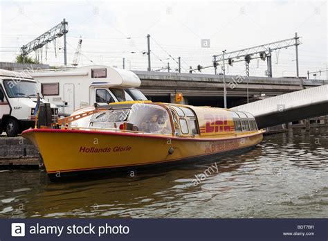 boat supplies amsterdam dhl express stock photos dhl express stock images alamy