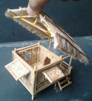 nipa hut bahay kubo hubbys creations paper houses