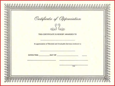 template for certificate of appreciation beautiful appreciation certificate templates free excuse