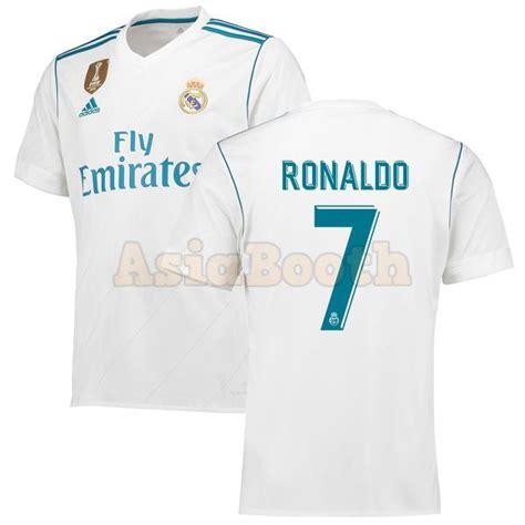 Jersey Real Madrid Home New 2017 2018 1 Set Celana Kaos Kaki 2017 2018 real madrid cf home jersey climacool shirt for cristiano ronaldo asia booth