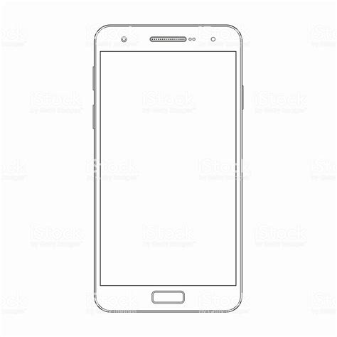Vector Smartphone Outline Template Phone Icon Stock Vector Art 531240774 Istock Phone Template