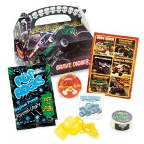 grave digger monster truck party supplies goody bags digger party and bags on pinterest