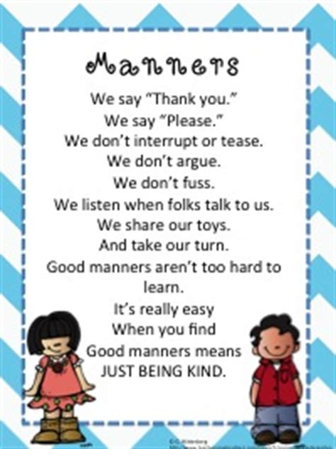 rhymes 2 worse than we knew books manners poem is said by my kinders to remind them about