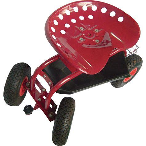 nrs garden stool on wheels ironton rolling garden seat with turnbar northern tool