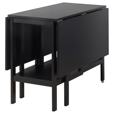 ikea drop leaf table barsviken drop leaf table black 45 90 135x93 cm ikea