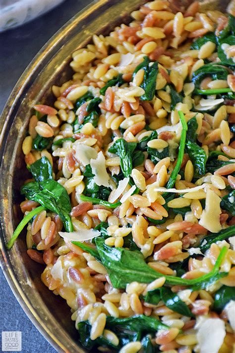 orzo pastina with parmigiano orzo pasta with spinach and parmesan life tastes good
