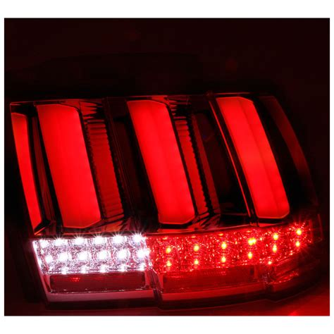 2004 mustang tail lights 1999 2004 ford mustang sequential led tail lights smoked
