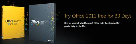 Microsoft Office 2011 For Mac Free 30 Day Trial Version Of Microsoft Office 2011 For