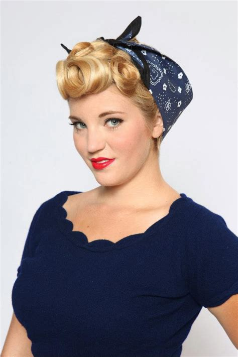 how to do rockabilly hairstyles with bandana pinup hair bandana rockabilly pin up hair and makeup