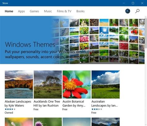 themes photos free download download windows 10 themes from store for free