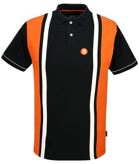 Panel Stripe Shirt trojan records black stripe panel polo t shirt modfellas