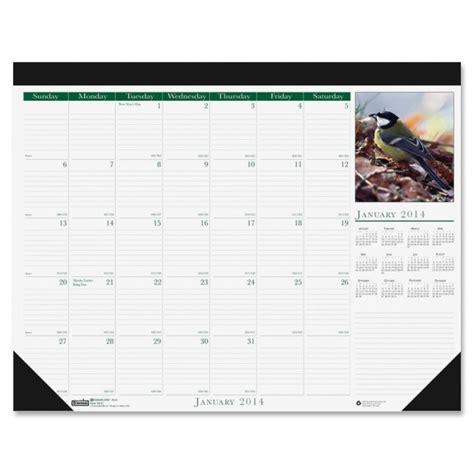 Calendar Desk General House Of Doolittle Birds Calendar Desk Pad Hod1926
