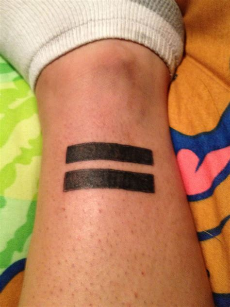 equal sign tattoo equal sign for equality my tattoos equals