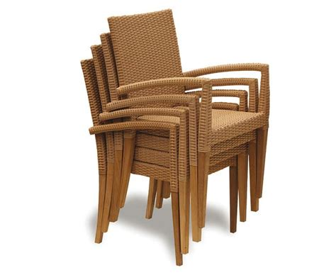 rattan table set st tropez teak and rattan table and chairs set