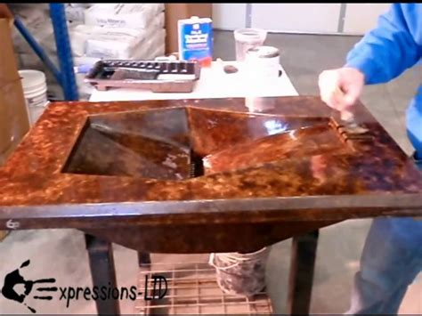 bar top sealer eap rocktop sealer concrete countertop application youtube