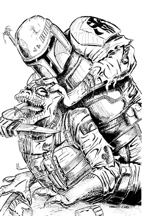 mandalorian coloring pages and print for free boba fett vs bossk by bodyslam1975 on deviantart