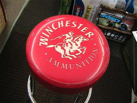 Gun Logo Bar Stools by Winchester Bar Stools New Condition Never Used Thick