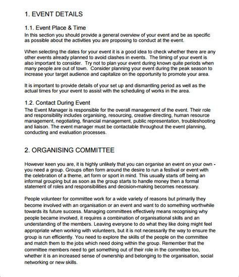 event schedule templates samples  docs excel