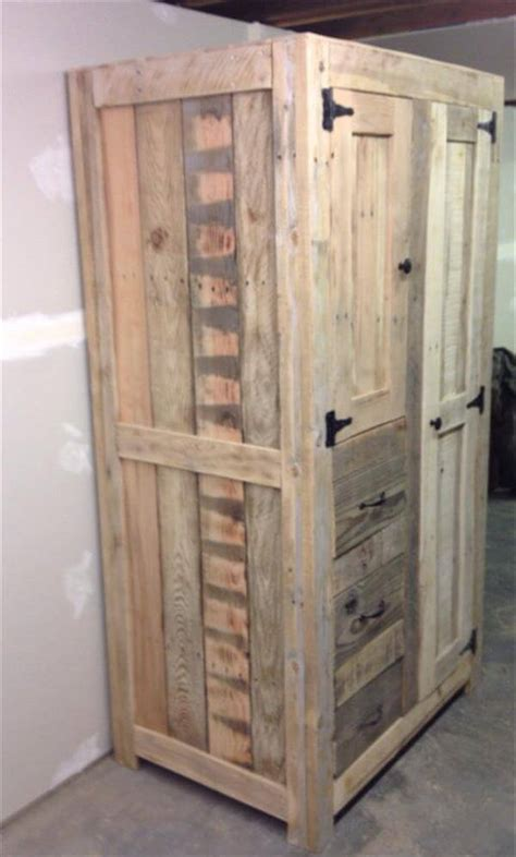Diy Storage Cabinet Diy Pallet Cabinet For Storage 101 Pallets