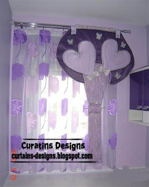 purple curtains for girls bedroom curtain designs