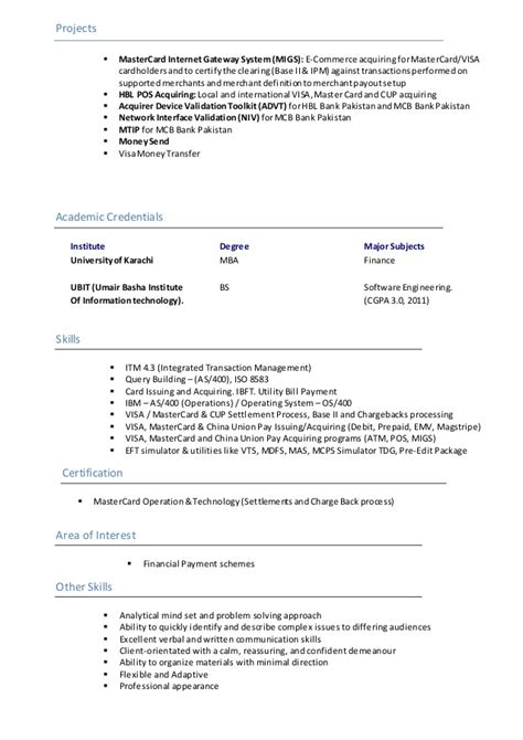 Area Of Interest For Mba Student by Area Of Interest In Resume For Mba Resume Ideas