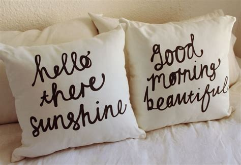 Hello There Gorgeous Pillow by His And Hers Cushions Hello There