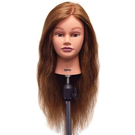 hair mannequin catherine 26 quot auburn 100 human hair cosmetology mannequin