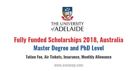 Fully Funded Mba Scholarships In Australia by Master Degree And Doctoral Research Scholarship In South