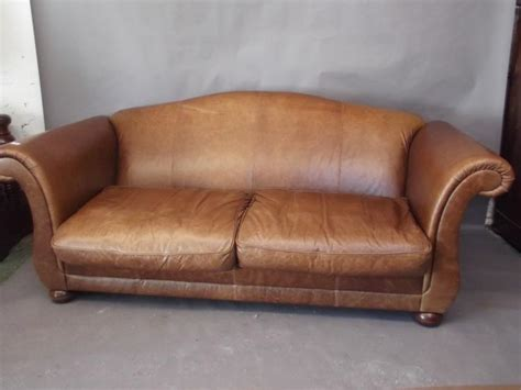 bun feet for sofa a laura ashley three seater leather sofa on bun feet 86 quot x