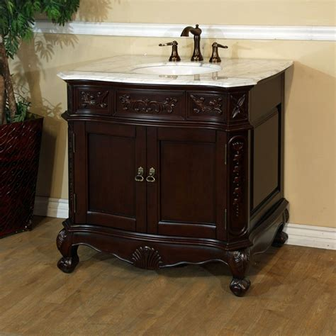 34 Inch Vanity Bellaterra Ashby 34 1 2 Inch W Vanity In Walnut With Marble Vanity Top In The Home Depot